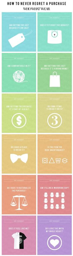 How to Never Regret a Clothing Purchase Every Again #infographic