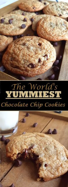 I have been making these cookies for years, and they are always everybody's favourite. Giant, extra soft, and loaded with chocolate chips. Visit my blog to find out how to make them yourself! #baking #Yummy #Chocolate #Recipe #Homemade #Chocolatechips #soft #cookies #Easy #bestcookiesever #Best #delicious #Desserts #comfortfood