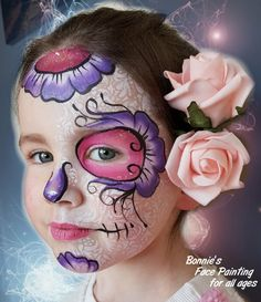 Skull Painting, Face Painting Designs, Halloween Fairy, Halloween Face Makeup, Sugar Skull Face Paint, Sugar Skulls, Pirate Face Paintings, Cool Face Paint, Maquillage Halloween