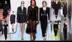 Black is the new Black -Als contrast, maakt zwart ook een comeback in het voorjaar zomer 2013. Zwarte pakken, jurken en mouwloze jassen heerste over de catwalk.