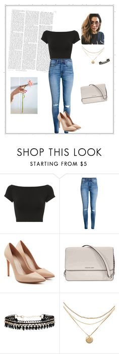 """""""love"""" by ajlakalabic ❤ liked on Polyvore featuring Helmut Lang, Alexander McQueen, Michael Kors and MINKPINK"""