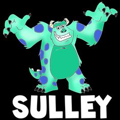 How to draw Sulley from Monsters Inc. with easy step by step drawing tutorial
