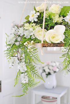 Floral Chandelier #diydecorating #floralarrangement #springdecor