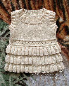 """Ravelry: Vest """"Bluebells"""" pattern by Tatsiana Shumilina. Free pattern. Needs translation to English."""