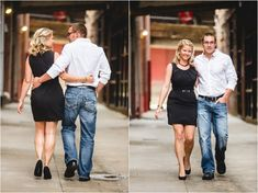 Downtown engagement pictures. Love her dress! Click to view more from this urban engagement sessionmin Knoxville TN.