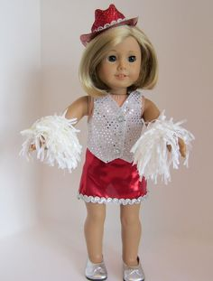 American Girl Doll Dancing in Red by SewSpecialByBarb on Etsy, $45.00