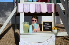 Operation Clubhouse {DIY Playhouse with Slide} Playhouse With Slide, Simple Playhouse, Diy Playhouse, Backyard Playground, Backyard For Kids, Backyard Ideas, Toddler Slide, Roof Panels, Buy Wood