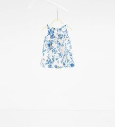 Printed dress with frill