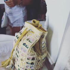 This beauty was spotted in - Amita Bag in Yellow Mykonos Greece, Summer Accessories, Yellow, Bags, Beauty, Fashion, Handbags, Beleza, Moda
