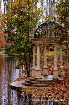 Nature Photography Fall Gazebo in the Gardens by MomentsInTimePics, $25.00 #garden #photography #autumn