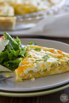 This Green Chile Tortilla Pie is crowd pleasing and super easy and a little unconventional by using a tortilla as the crust.: