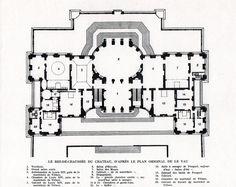 Chateau de Vaux-le-Vicomte, ground floor plan.
