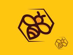 Bee Logo 5 by paul diaconu Hive Logo, Logo Bee, Bee Icon, Plan Bee, Stingless Bees, Honey Brand, Bee Illustration, Honey Packaging, Logos