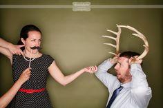 Rustic wedding photobooth prop idea - Deer Anters!  This was SO fun!!
