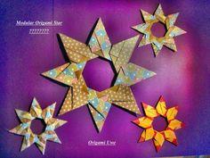 Origami und Fleurogami: Granatstern