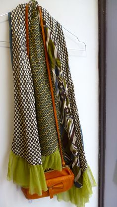 Autumn 2012, scarf made of vintage silk men ties.