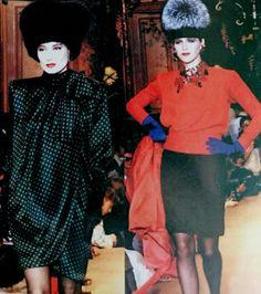Juillet 1987. Haute couture hiver 1987 /88. L Officiel 1000 modèles.