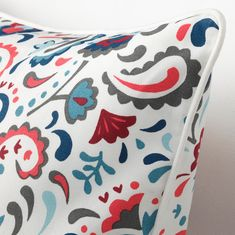 KRATTEN cushion cover spreads happiness with its bright pattern inspired by Scandinavian folk art. A great accent for your sofa or bed and easy to coordinate with other textiles for extra coziness. Cushion Pads, Cushion Covers, Recycling Facility, Scandinavian Folk Art, Reading Nook, Bunt, Cushions, Throw Pillows, Holiday Decor