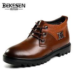 e4a1a93b14f8 DEKESEN Winter Warm Shoes Snow Boot With Fur
