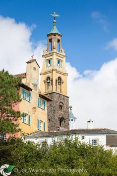 The Campanile was built in 1928 and is a dominant feature of Portmeirion, the Italianate village designed by Clough Williams-Ellis