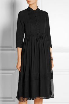 TITLE A : Silk-chiffon dress