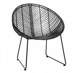Meuble Design Scandinave Chaise Ronde En Rotin Naturel71x67xh77cm
