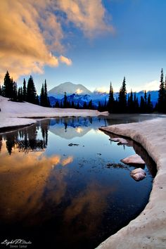 Tipsoe Lake Sunset, Washington State - By Steven Lamar