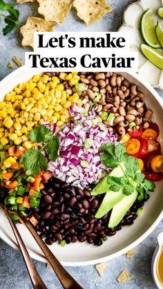 Heart Healthy Recipes, Healthy Salad Recipes, Vegetarian Recipes, Vegetarian Mexican, Mexican Food Recipes, Whole Food Recipes, Dinner Recipes, Cooking Recipes, Caviar Recipes
