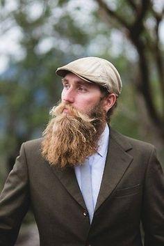 A beard to admire....plus he's cute, and I like the hat.