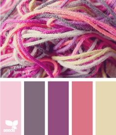 yarn hues - another pretty color palette for Valentine's Day crochet