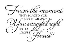 Nursery Wall Quotes - From the Moment