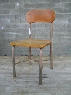 Vintage School Chair Child Chair, School Chairs, Vintage School, School Photos, School Days, Dining Chairs, Furniture, Home Decor, School Pictures