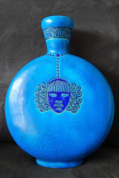 Stunning French Art Déco Longwy Primavera Vase. 1930s. Amazing Royal Blue Faïence. Mint Condition. by FloMorganGallery on Etsy https://www.etsy.com/au/listing/201398375/stunning-french-art-deco-longwy
