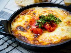 Receta de Provoleta con Tomate y Albahaca