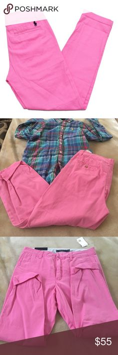 Polo Ralph Lauren Sports Rolled Cuff Chinos ❤️Closet Closing Sale❤️ 👌Offers Welcome👌 Color: Jamaica Pink NWT Polo by Ralph Lauren Pants Straight Leg