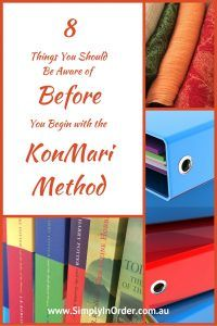 8 things you should know before beginning to declutter and organise with the KonMari method.