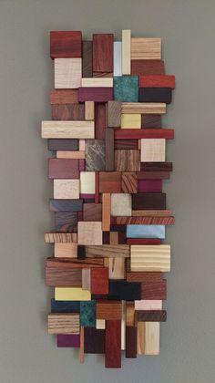 Wood Mosaic, Stone Mosaic, Mosaic Wall, Wooden Wall Art, Wooden Walls, Wall Wood, Leopard Wood, Reclaimed Wood Art, Hanging Art