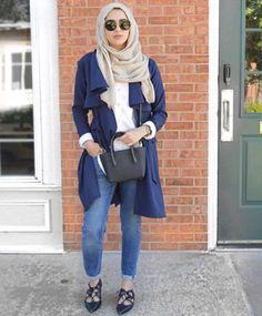 long cardigan jacket hijab style