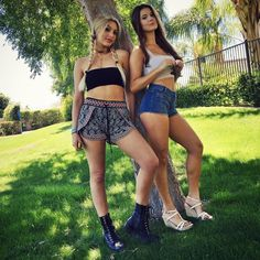 Vine Star and published author Lele Pons posed with fellow web star Amanda Cerny to share their outfits for the final day of the weekend.