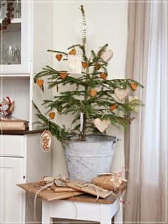 Cute for a second living room or finished basement where your main tree is in a different part of the house.