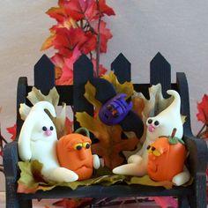 Dollhouse Miniatures Clay Halloween Bat Sheet Cake Fancy Night Festival 19