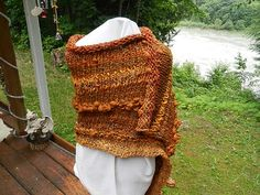 Hand Knitted natural wool BFL alpaca handspun art by Micheleshats
