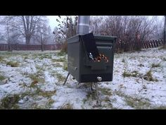 Making an ammo box tent stove without welding - YouTube