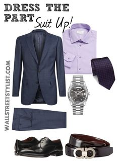 Suit Up! by wallststylist on Polyvore featuring ETON, Gieves & Hawkes, Gravati, Rolex, Salvatore Ferragamo, Brioni, men's fashion and menswear www.WallStreetStylist.com