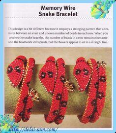 memory wire snake bracelet