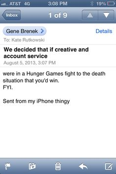 Best email I've gotten since working at #GSDM.