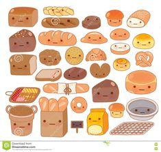 Food Stickers, Kawaii Stickers, Kawaii Drawings, Cute Drawings, Kawaii Fruit, Food Doodles, Anime Angel Girl, Cute Food Art, Food Sketch