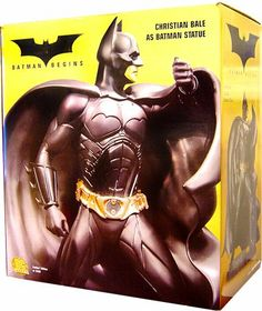 Batman Begins: Christian Bale As Batman Statue 2005 DC Direct Batman Begins CHRISTIAN BALE AS BATMAN Statue in its original 4-color box with certif. The statue along with the box and certificate.. This limited edition, hand-painted cold cast porcelain HUGE statue measures approximately 14 high,. This statue is new and has a suggested retail price of $195.00..  #DC_Comics #Toy