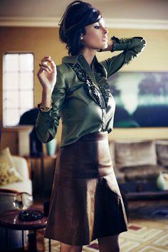 A Woman is a Woman - Nicole Trunfio by Simon Lekias for Harper's Bazaar Australia October 2014