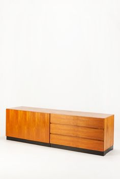 Dieter Waeckerlin; Teak and Lacquered Beech Modular Sideboard for Idealheim, c1970.